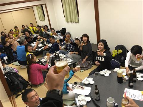 メリパナイトラン、神戸マラソン2018打ち上げの模様 春日野道商店街の聚鳳さんにて。