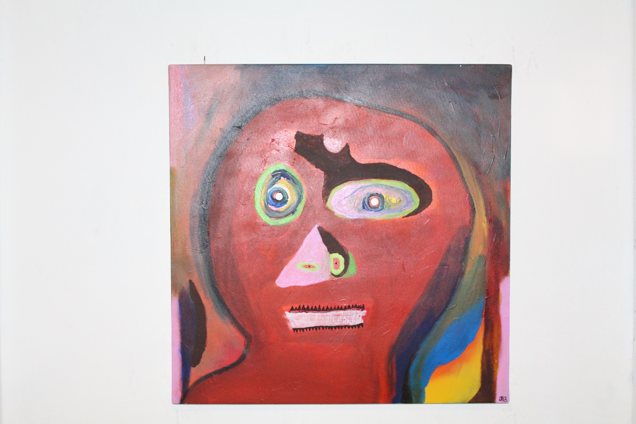 47. ''Confused Mental Patient.''  (50x50cm)  2018.  JB.  !!!           (€760)