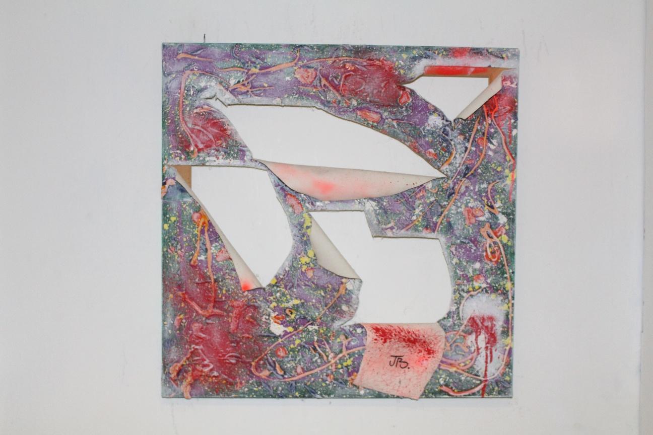 58. ''Untitled.'' (50x50cm)  mixed media