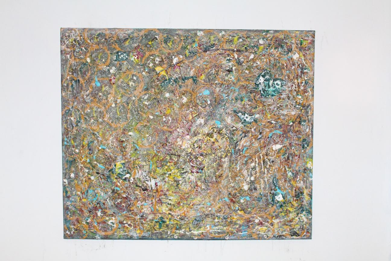'62. 'Untitled.'' acrylic&oil (50x60cm)