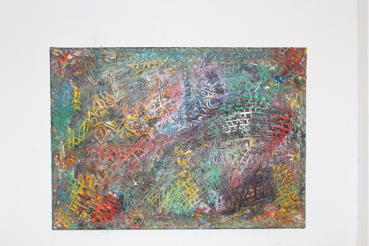 43. ''Untitled.'' oil paint.