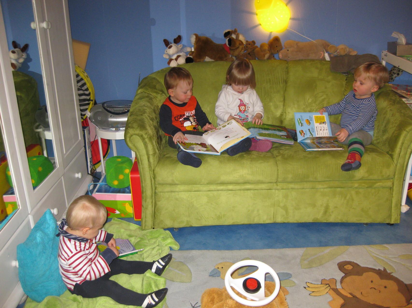 Optimaler Betreuungsschlüssel von max.5 Kindern gleichzeitig in einer Kleingruppe