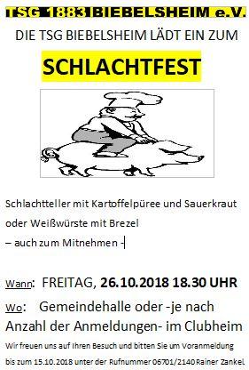 Schlachtfest 2018