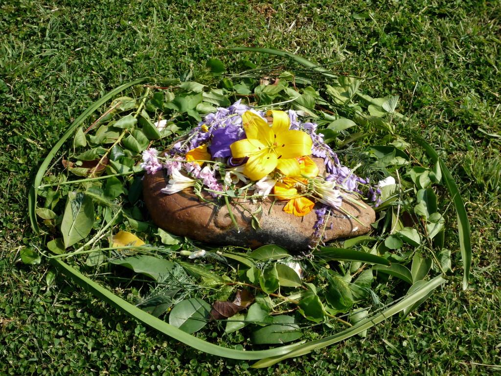 Grandmother ritual, Santiago di Chile, October 2010