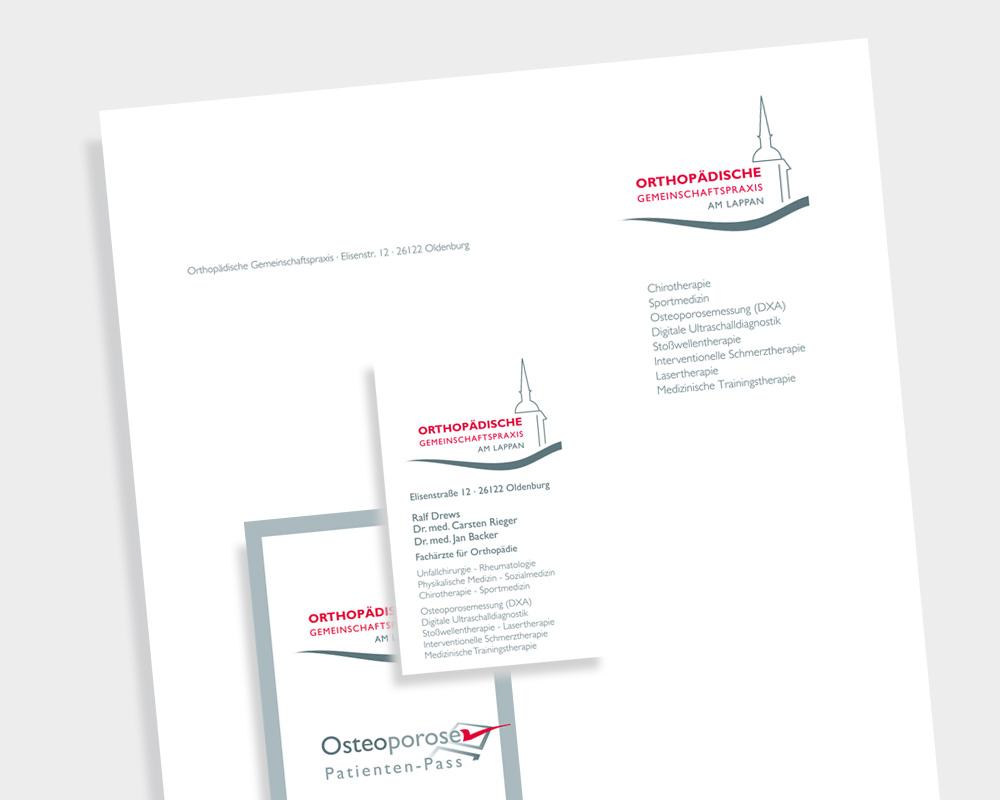 Corporate Design der Orthopädischen Gemeinschaftspraxis am Lappen.