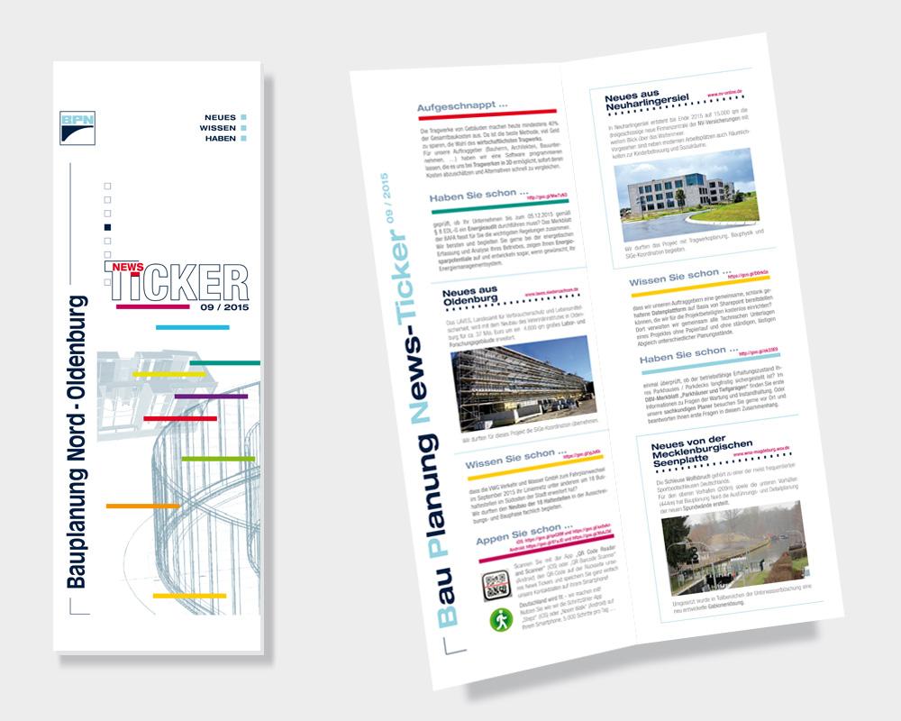 BPN News Ticker: Informationen zu Gleisbau, Wasserbau, Hoch- und Tiefbau Projekte.