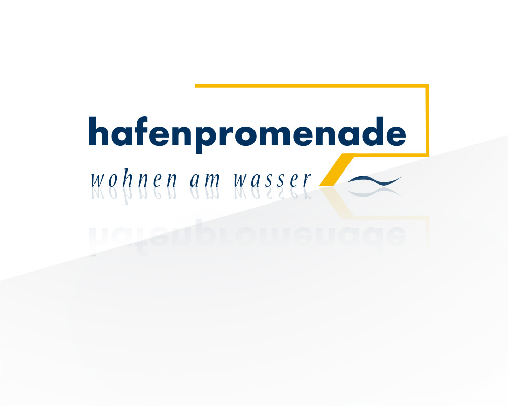 Logo Design zum Objekt Hafenpromenade in Oldenburg.