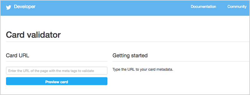 TwiiterのCard validator