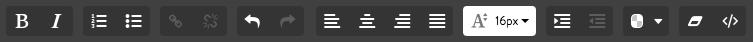 Jimdoの文章パーツにある書式設定機能(ボタン)