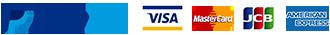Paypal(ペイパル)、VISA、Master、American Express各種クレジットカードが使えます