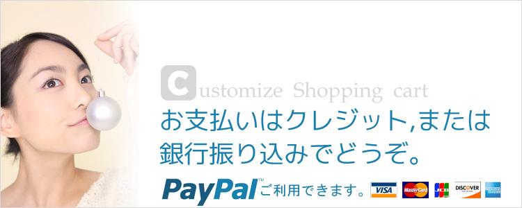 お支払いPaypalがご利用できます