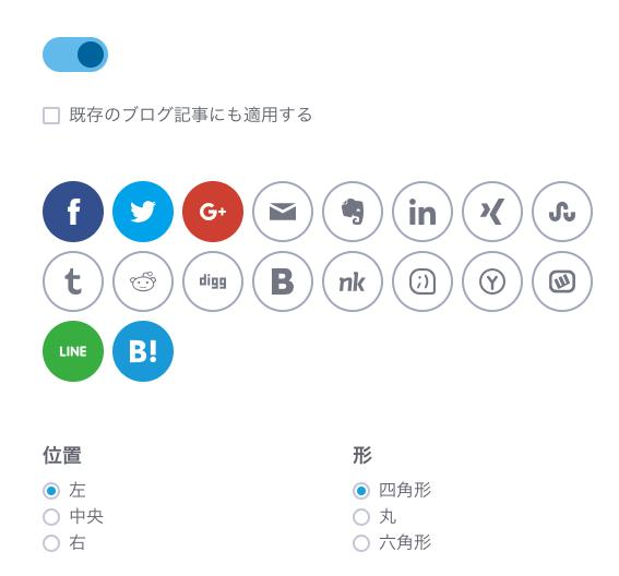 SNSを使っている人はシェアしてくれるかもしれない。人気どころのボタンは設置してみよう。