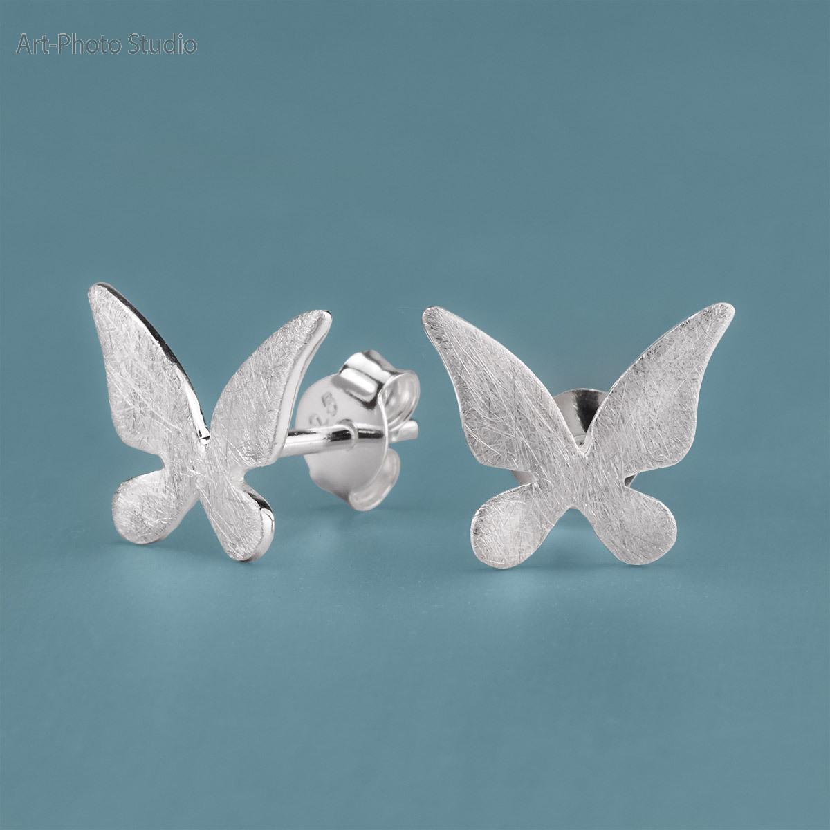 фотография ювелирных украшений - серьги из серебра