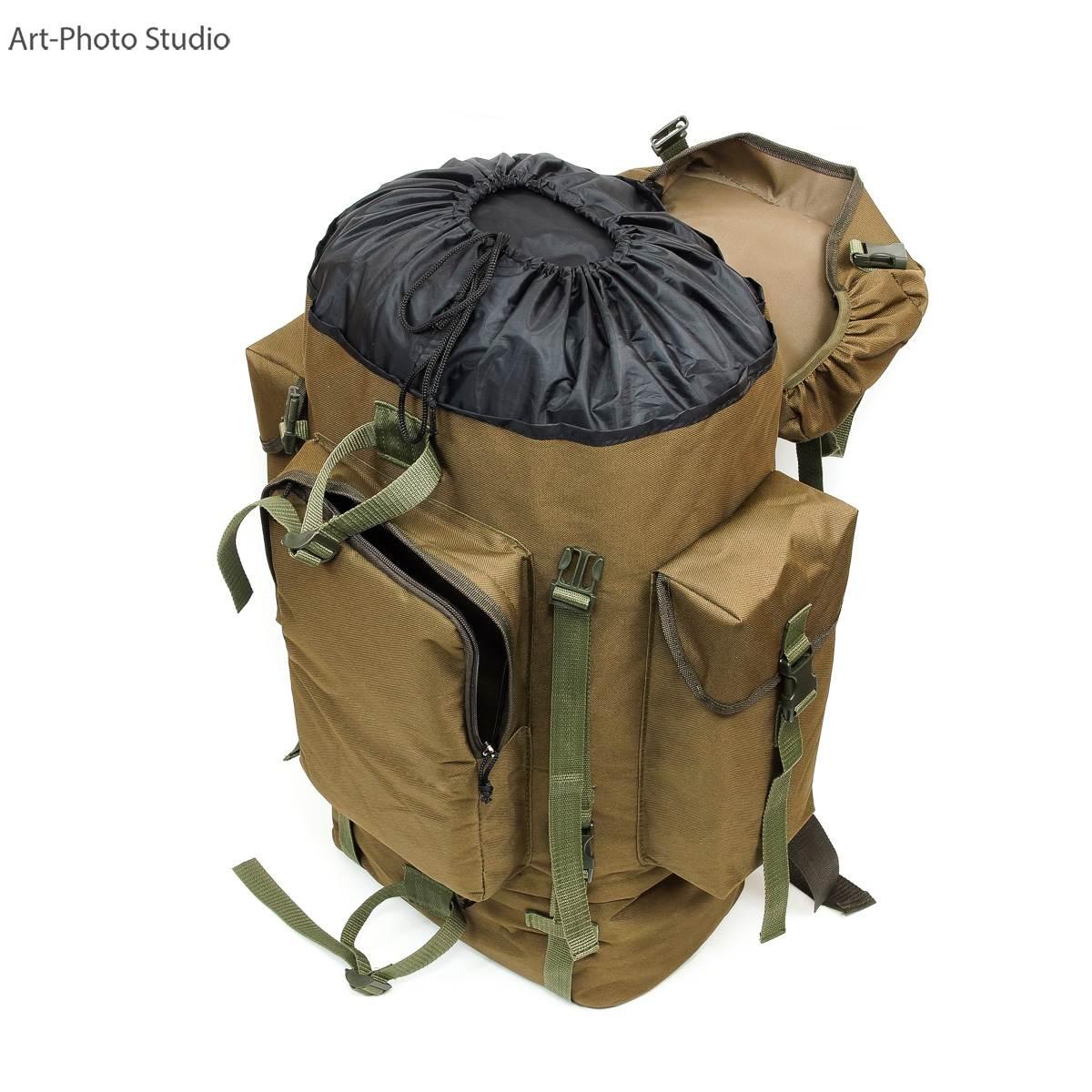 предметное фото туристского универсального рюкзака цвета койот
