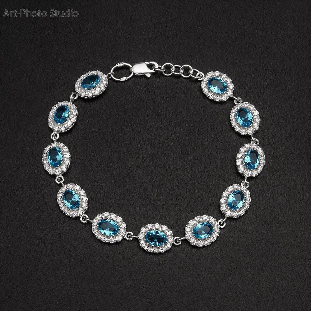 предметная съемка ювелирных украшений из серебра - браслеты
