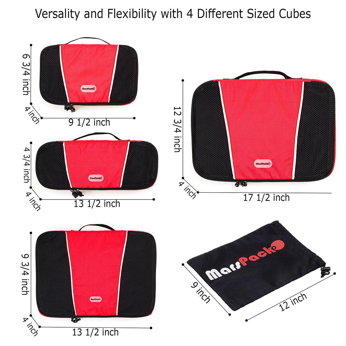 коллаж и инфографика для листинга на Amazon - упаковочные кубы для дорожной сумки