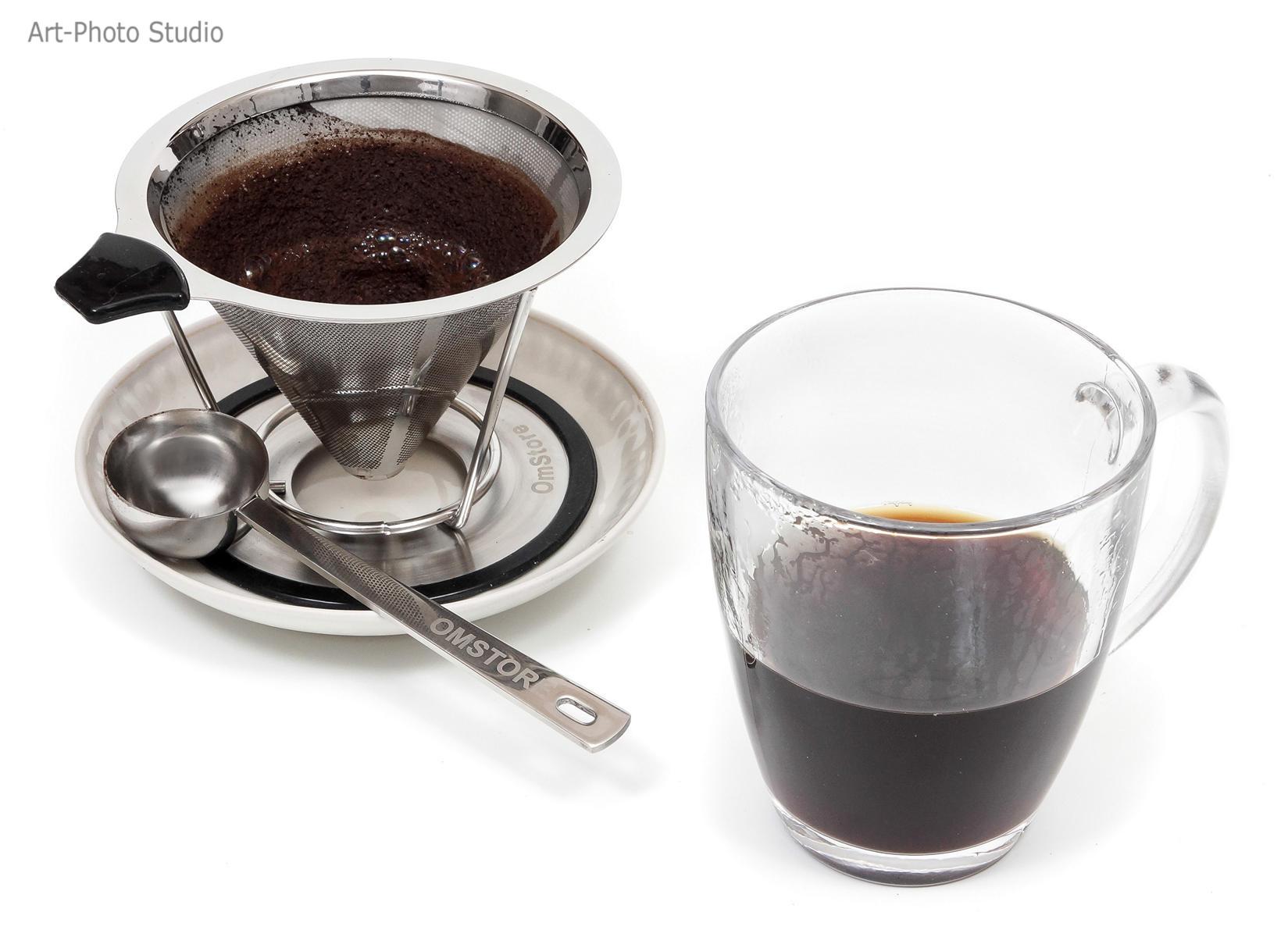 фото на Amazon листинг - заварка кофе