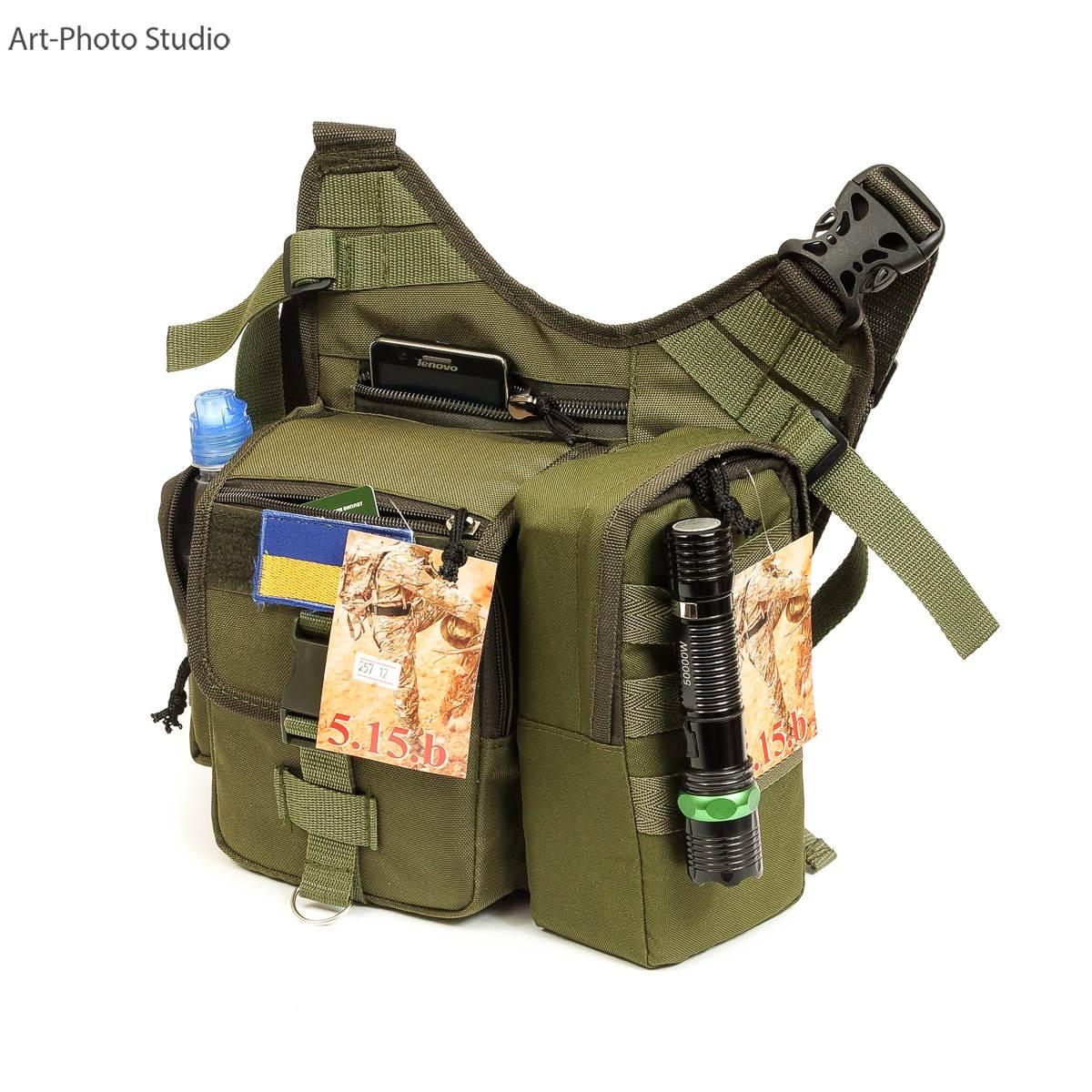 каталожная фотосъемка  тактической сумки для сайта интернет-магазина