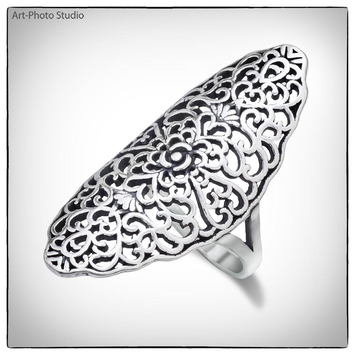 роскошное серебряное кольцо