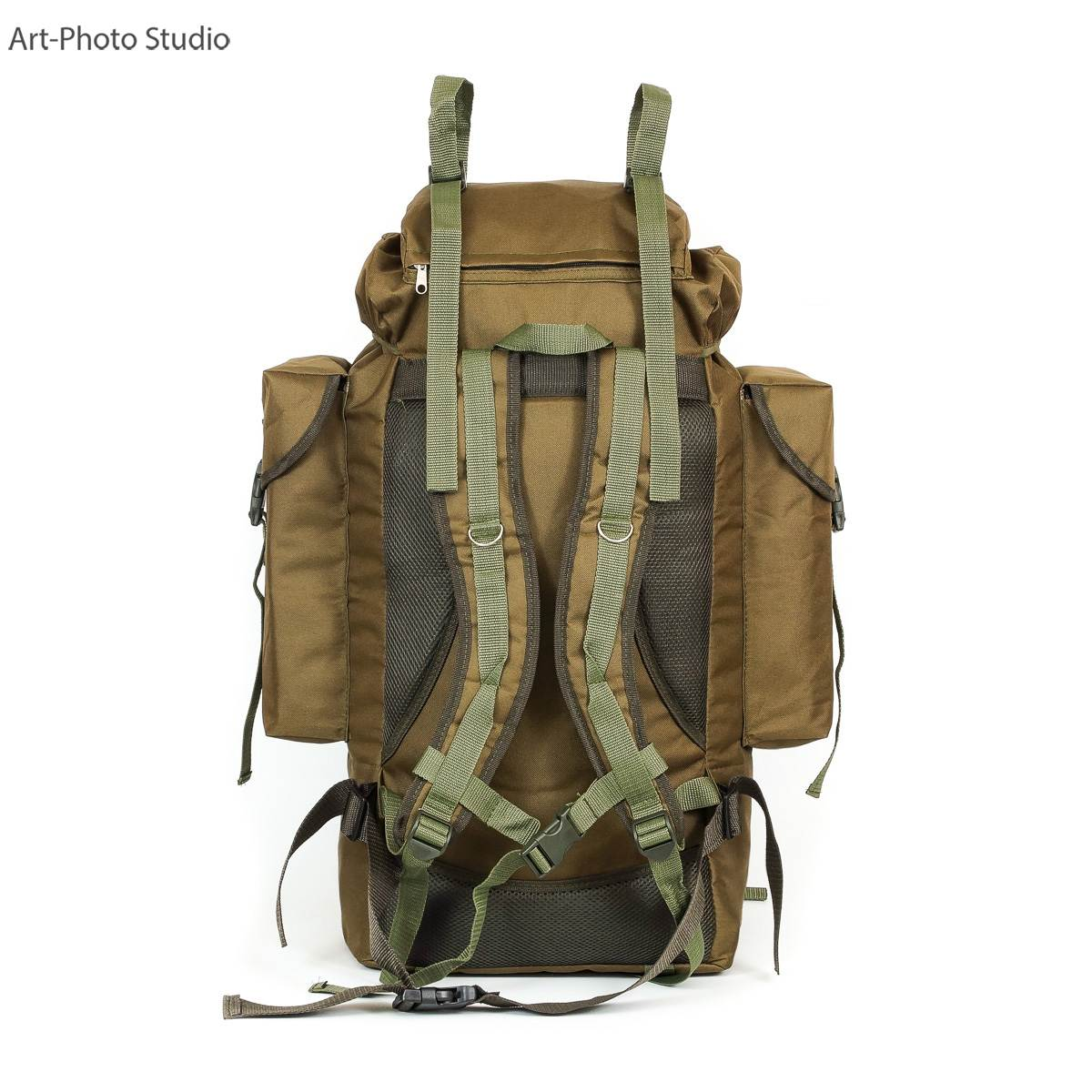 фото для каталога туристского универсального рюкзака цвета койот
