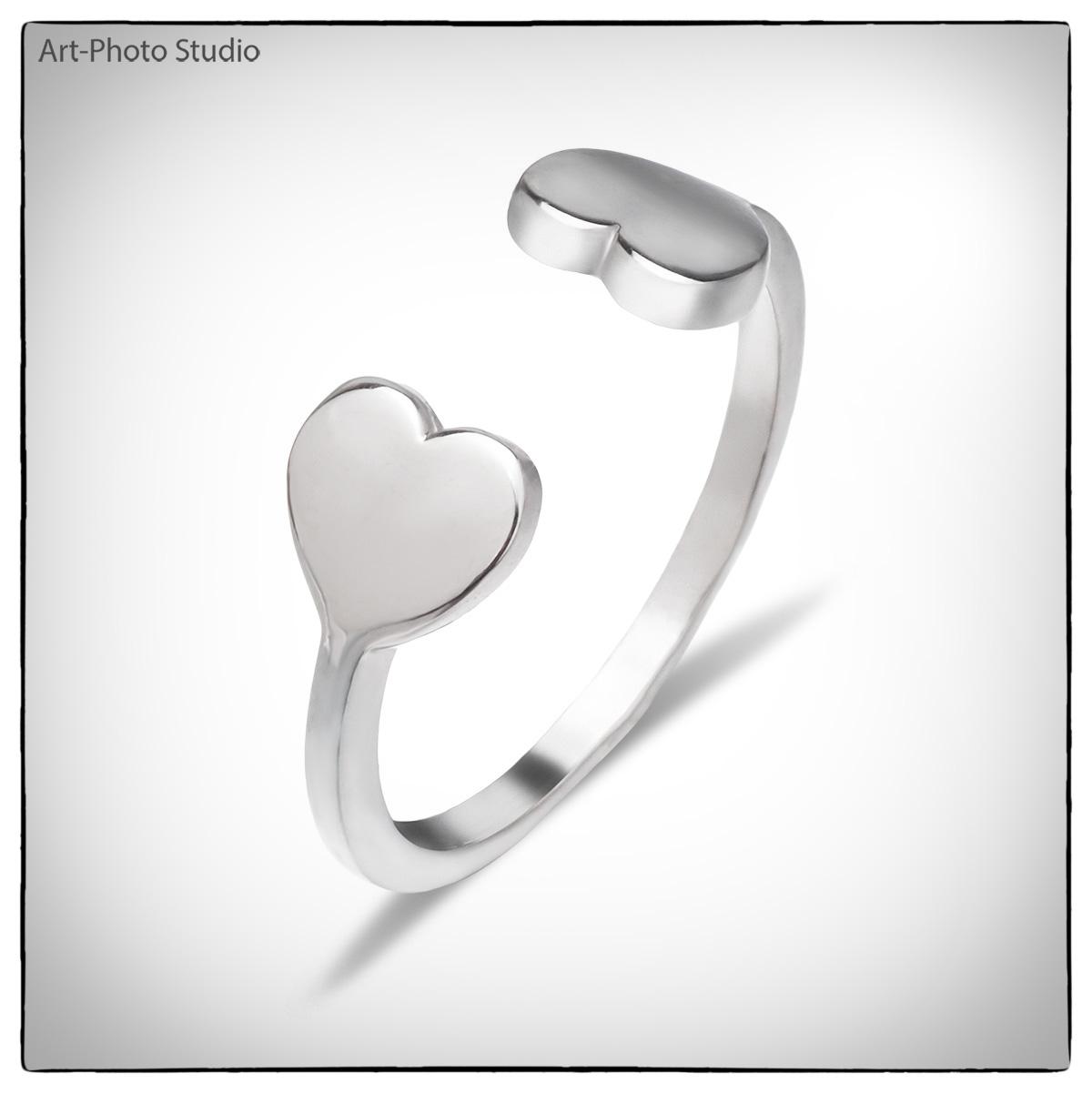 "серебряное кольцо ""сердечко"""