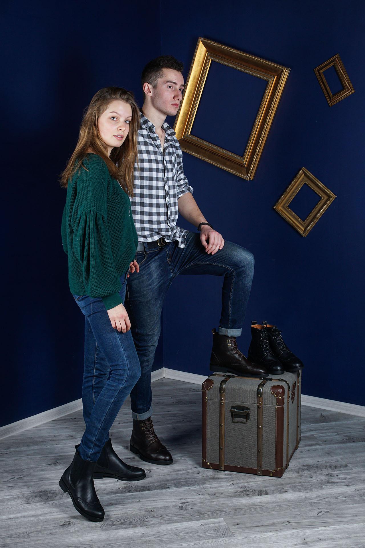 фотосъемка обуви с использованием моделей