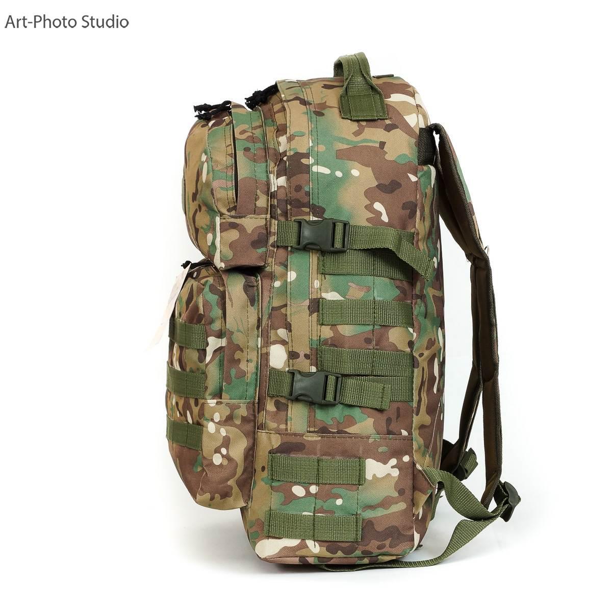 предметная фотография тактического рюкзака цвета мультикам