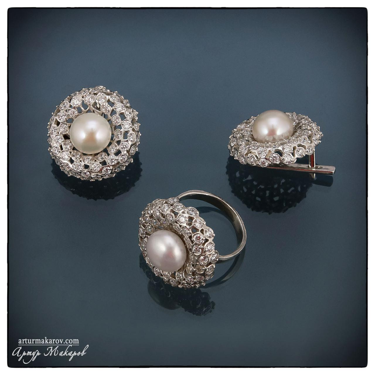 предметная фотосъемка ювелирных украшений из серебра