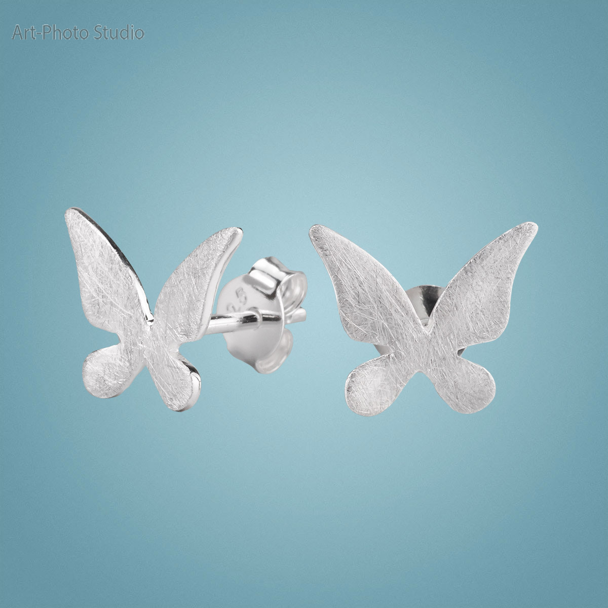 фотография ювелирных изделий - серьги из серебра