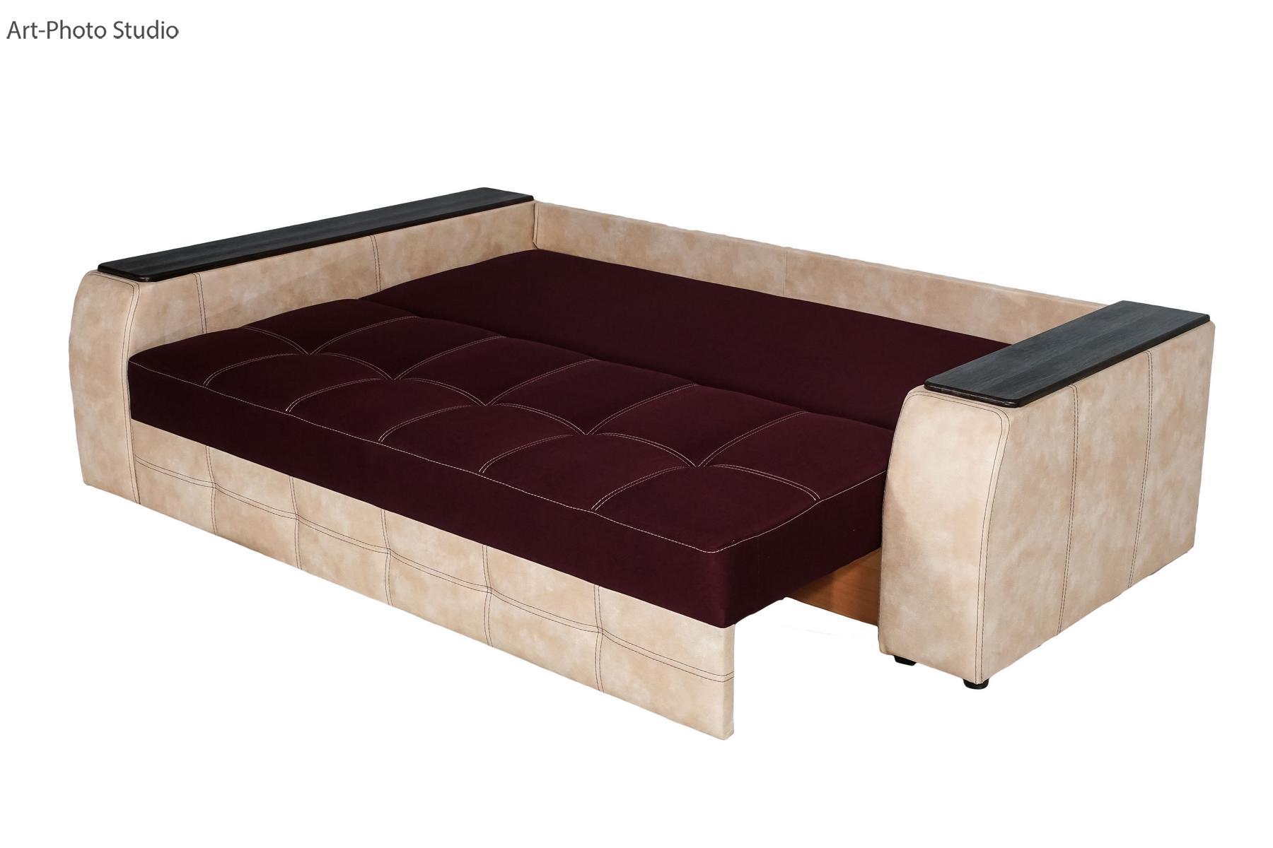 каталожная фотосъемка мягкой мебели в Харькове - диван в разложенном виде