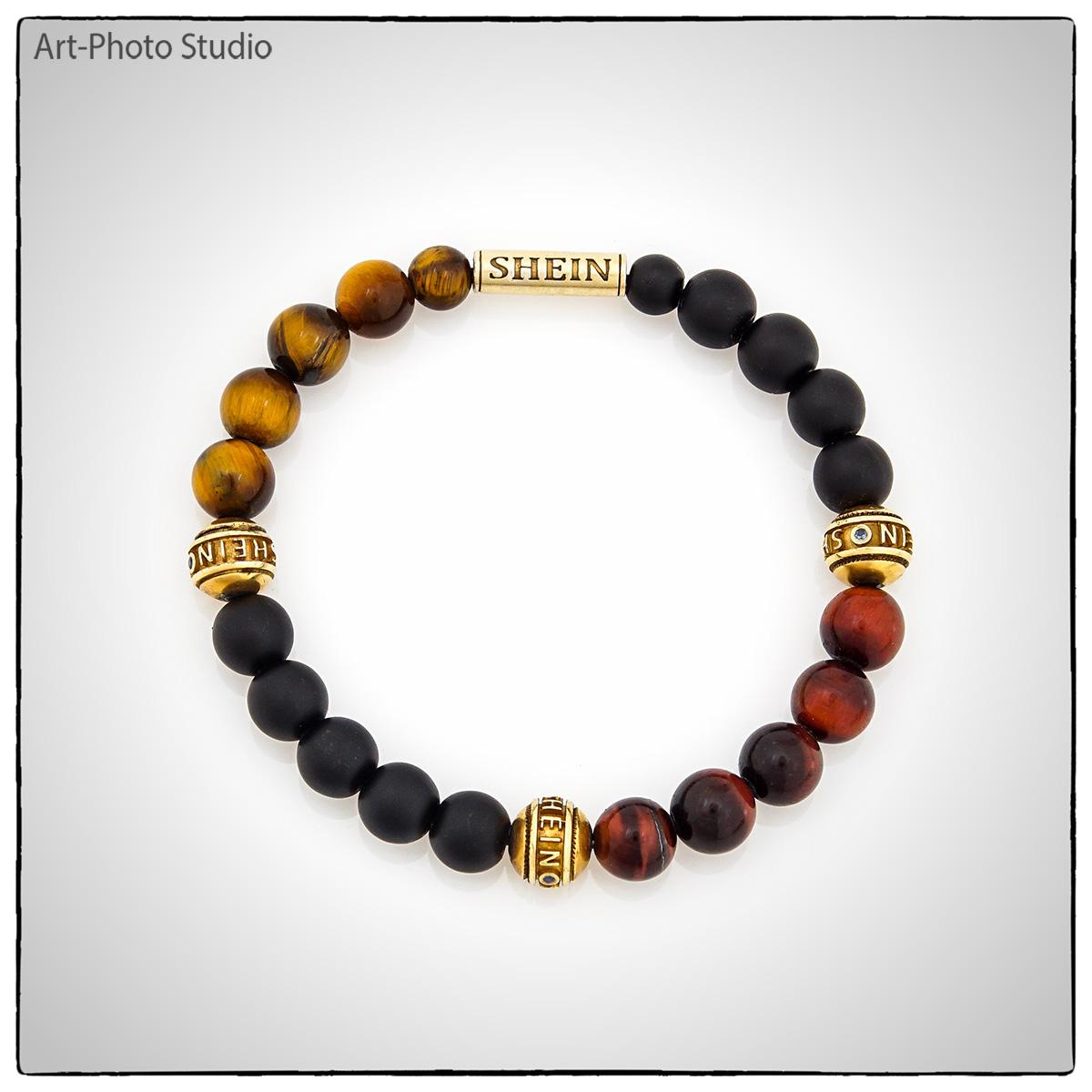 предметное фото - браслет с драгоценными камнями