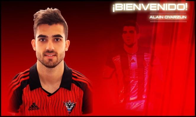 Alain Oyarzun terminará la temporada en el Mirandés. Foto: www.cdmirandes.com