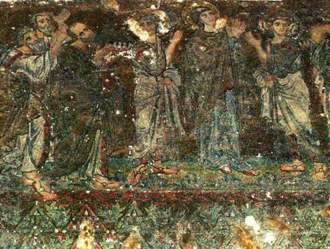 Fresques de l'époque des croisades.