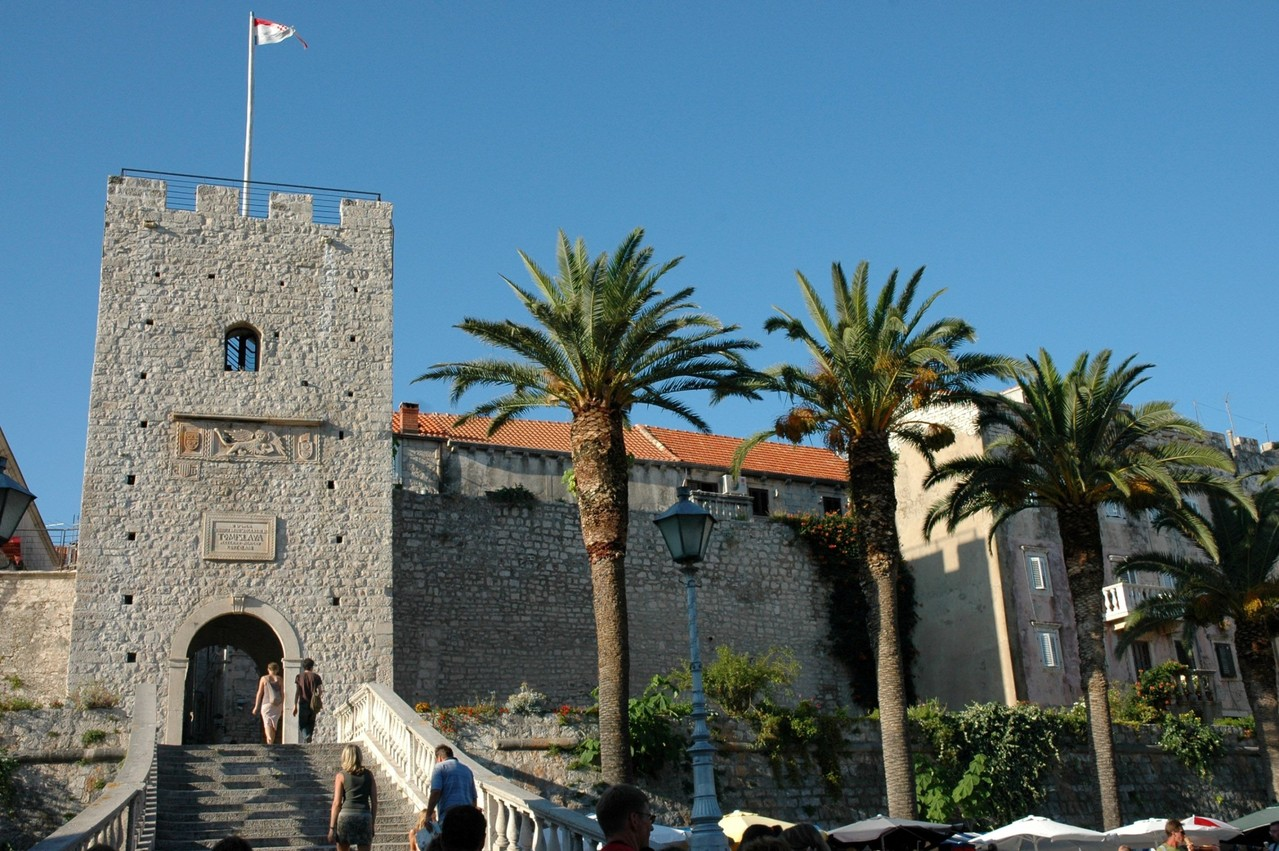 Entrance of old town of Korcula