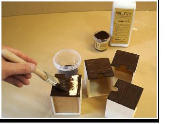 Shabby Chic Grundieren mit GekkkoSOL Lasur & Pigment