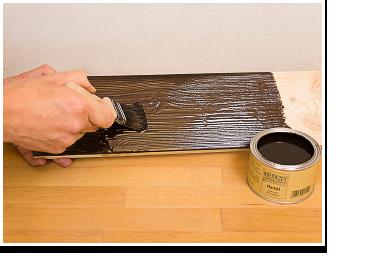 Öle und Wachse pigmentieren: das pigmentierte Öl streichen