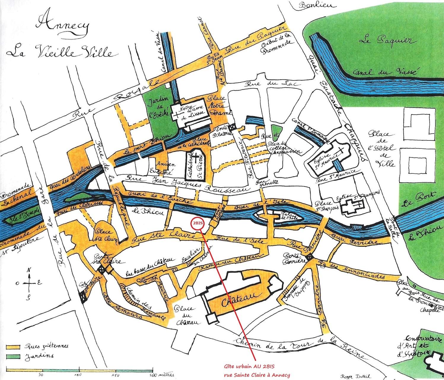 Annecy dessiné par notre ami Roger Duteil (Editions le Vieil Annecy)