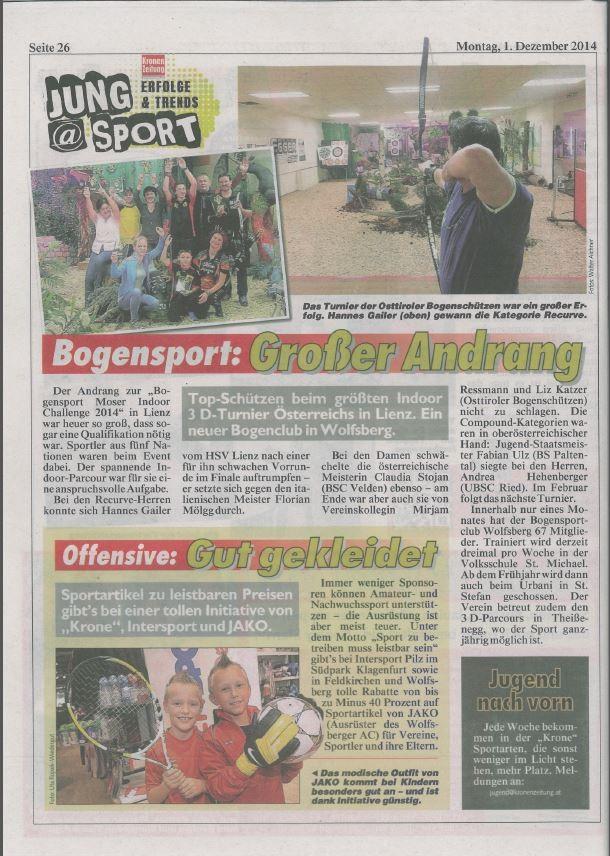 Kronen Zeitung 01.12.2014