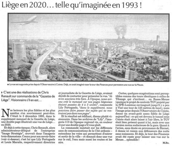 Image Stratégies 1993 / La Libre Belgique / Chris Renault Visionnaire