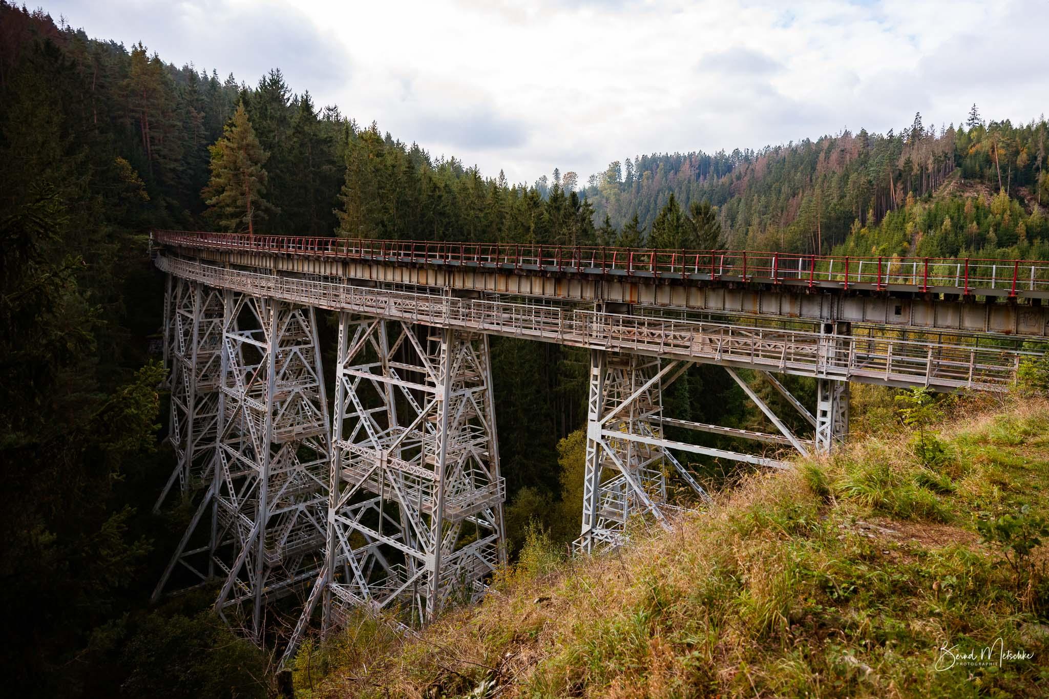 Die Ziemestalbrücke ist ein 115 Meter langer und 32 Meter hoher Viadukt der Bahnstrecke.
