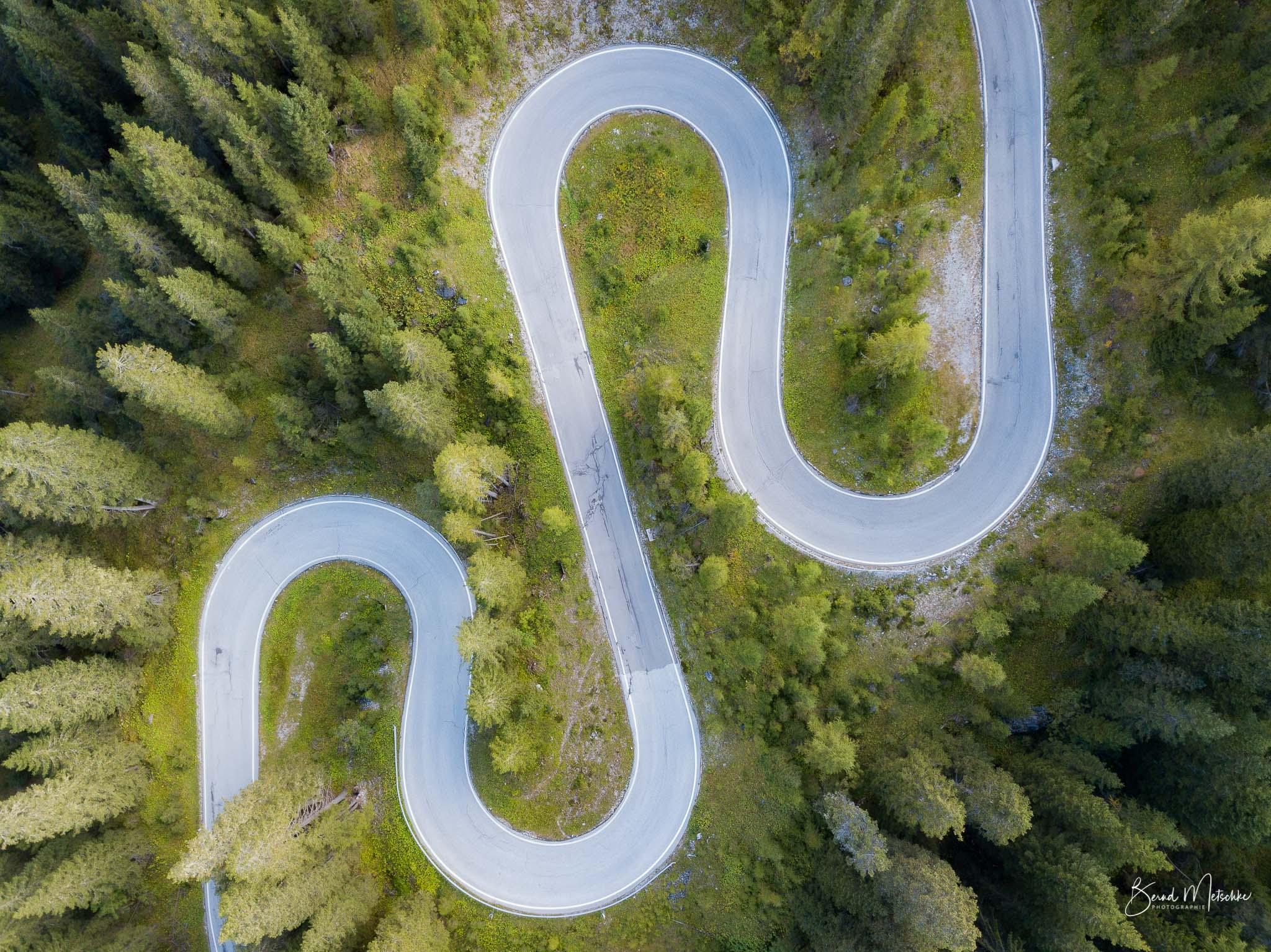 Kurvenreiche Straßen