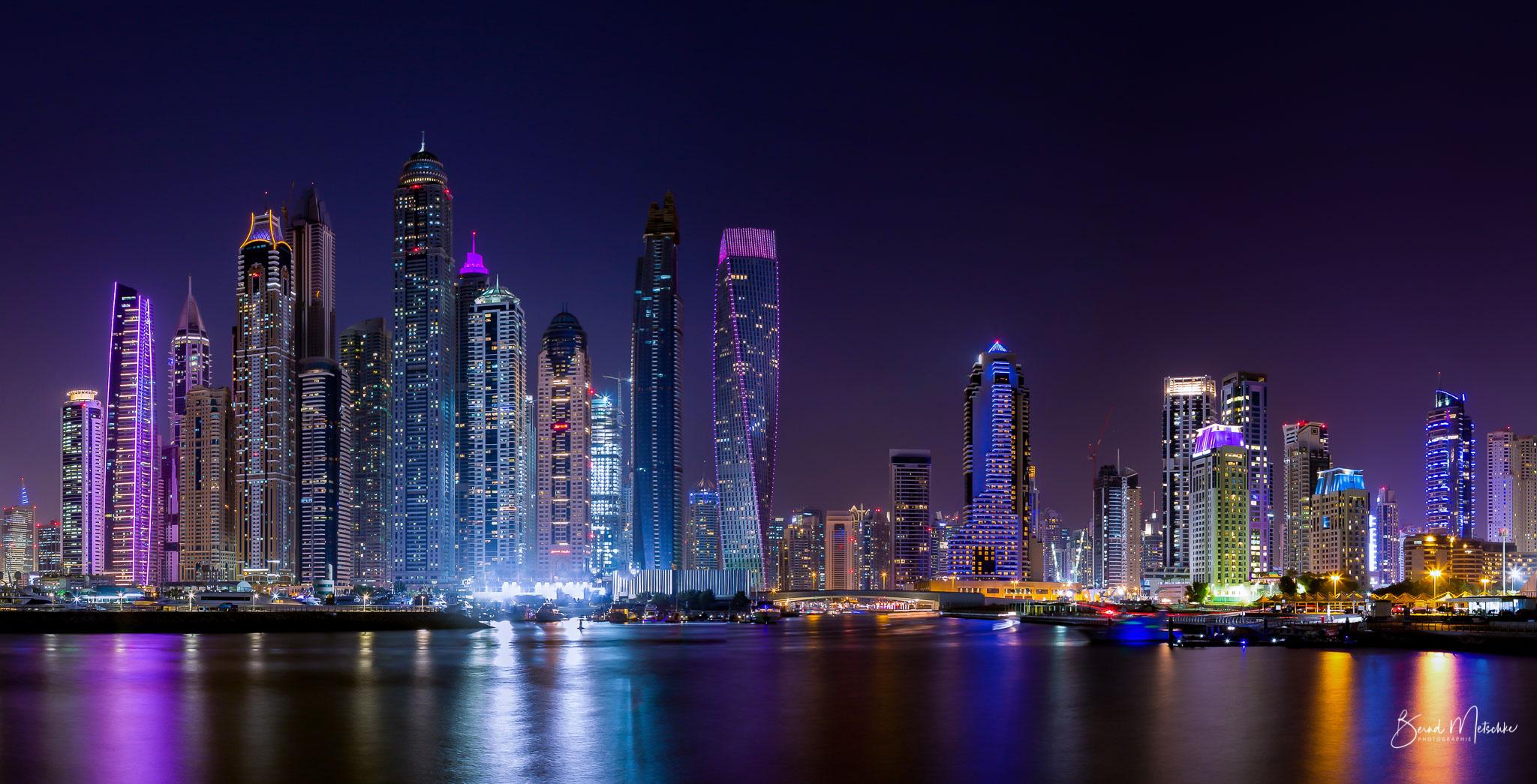 Skyline Dubai Marina (Abend)
