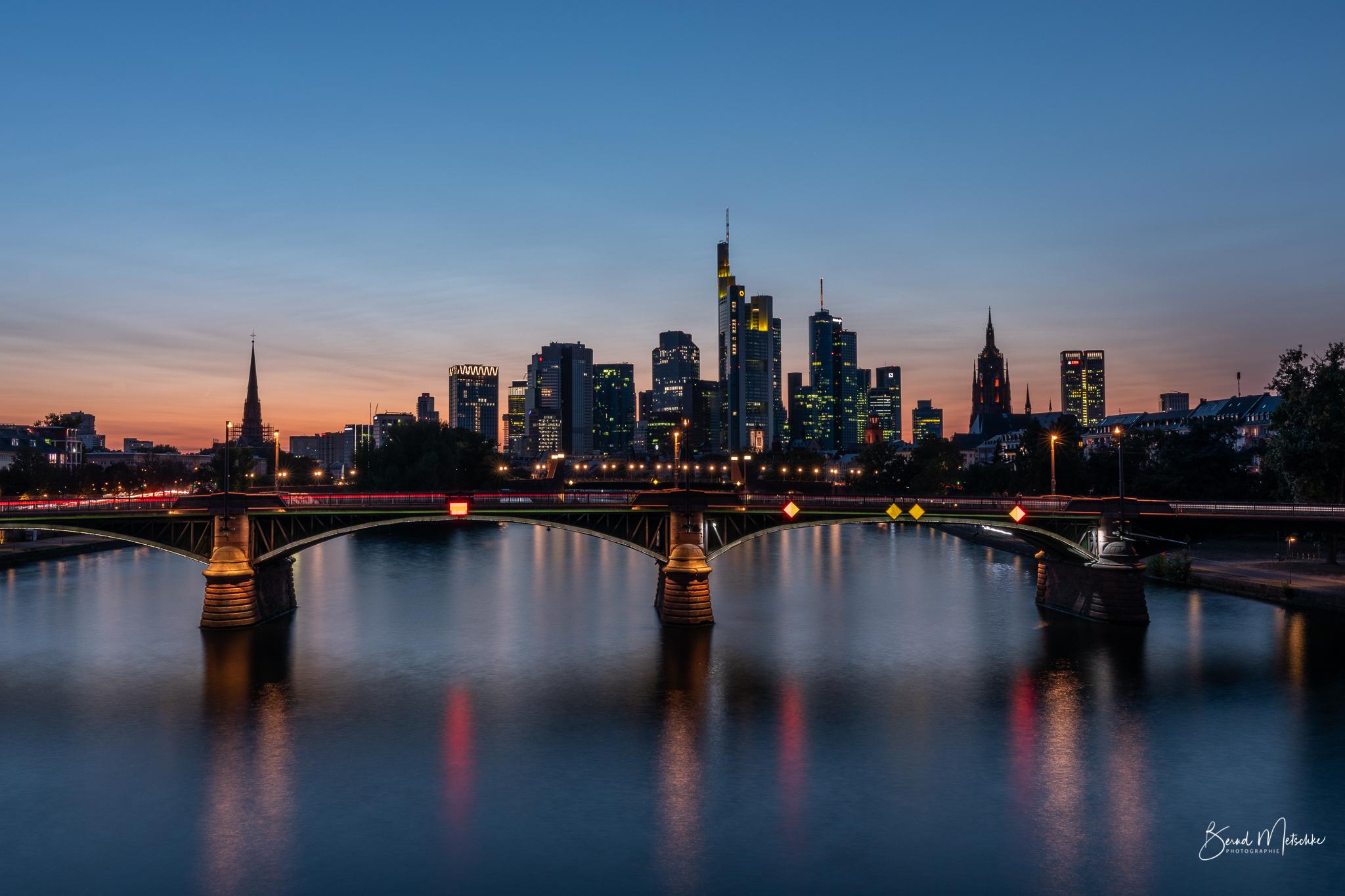Abends toller Blick auf die Skyline
