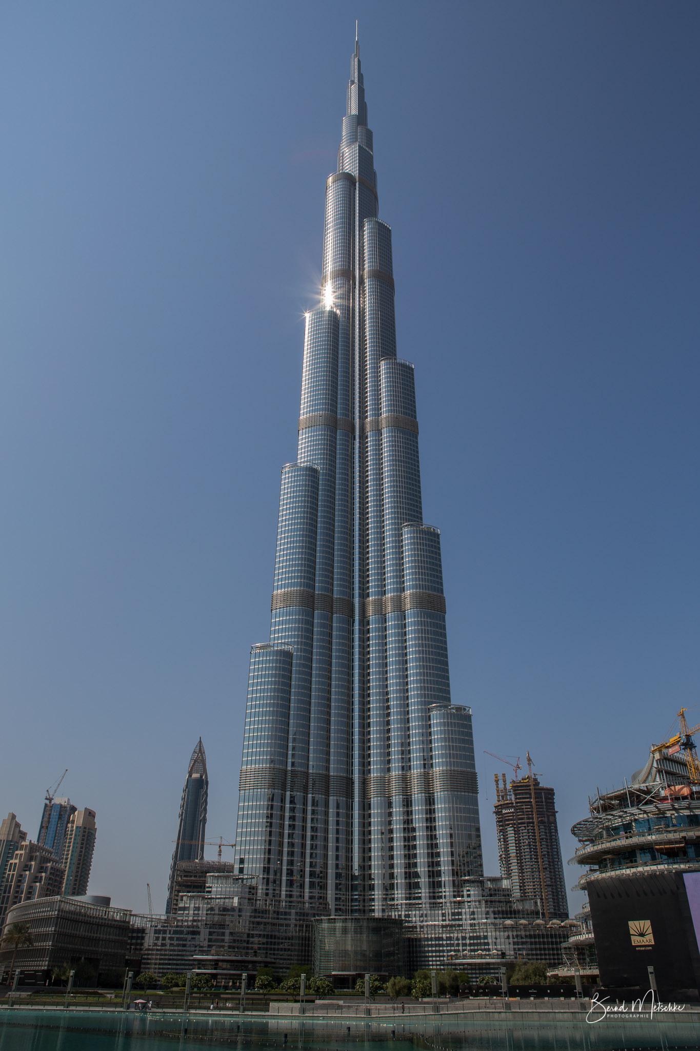 Der Burj Khalifa ist ein Wolkenkratzer in Dubai.