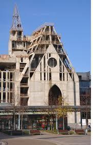 Leipziger Uni-Kirche im Bau