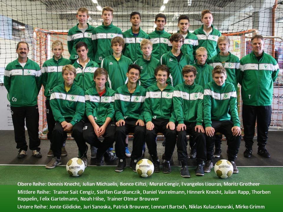 U16 2012/13 (Bezirksliga; Kreismeister & Supercupsieger 2011/12)
