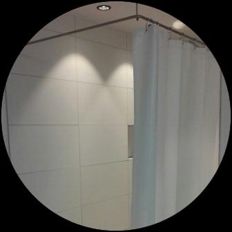 Edelstahl Duschvorhangstange - Vorhang waschbar bei 40°