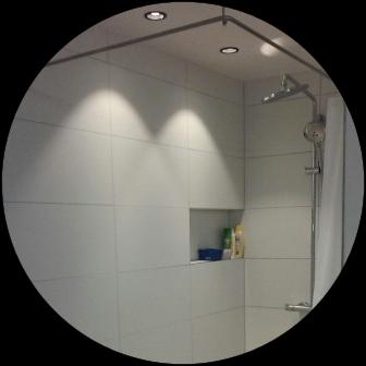 Duschvorhang als Alternative zu Duschwandkabine