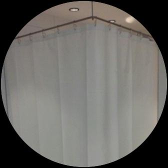 Vorhang beschwert und waschbar