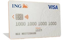 Kostenloses Girokonto mit ING VISA Card Kreditkarte für das mobile online Banking